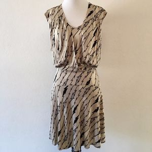 Tracy Reese Skater Dress Cap Sleeves size S